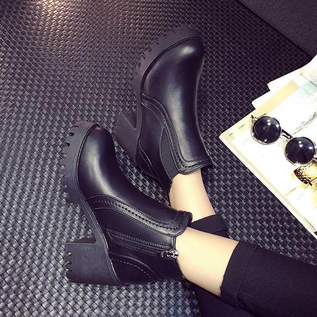 1206預購 馬丁靴復古裸靴英倫女鞋