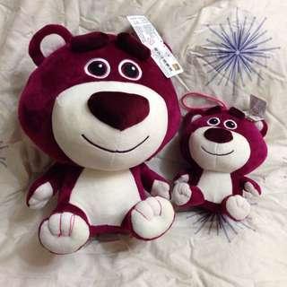玩具總動員 熊抱哥 Q版紫色 正版