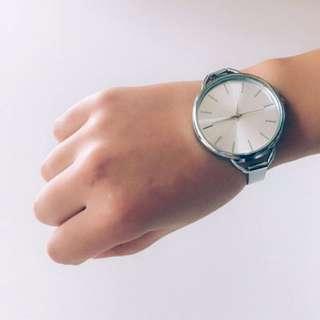 實拍 極簡風 情侶 文青 大錶盤 手錶 韓 復古 文藝