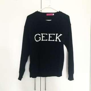 Boohoo Geek Sweater