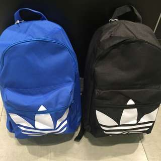 Adidas Original 後背包 黑 藍 2016版