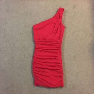 Red One Shoulder Bodycon Dress