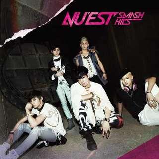 NUEST SMASH HITS 最精選CD NU'EST 台灣獨占初回限定A盤