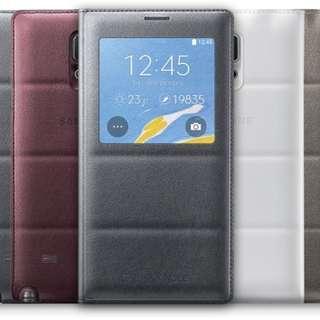 BNIB Authentic Samsung Note 4 S View Cover ( Metallic Grey )