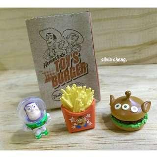 (降價)玩具總動員Happy快樂房間食玩2號迷你巴斯蛋頭薯條三眼漢堡剩最後一組