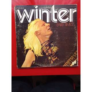"""'Lost"""" Johhny Winter album """"Early Times"""" SIGNED!!!!"""