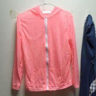 /外套/東京著衣外搭薄外套-螢光粉色