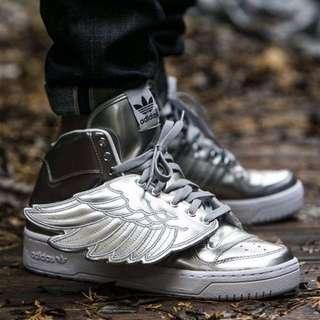 Adidas JS Wings 炫酷太空銀色鞋 翅膀 全智賢同款 休閒鞋36-39