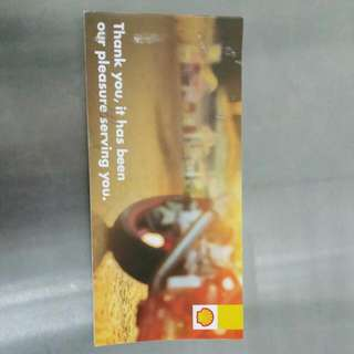 Shell Petrol Voucher From January 2016 To December 2016 For Motorcycle