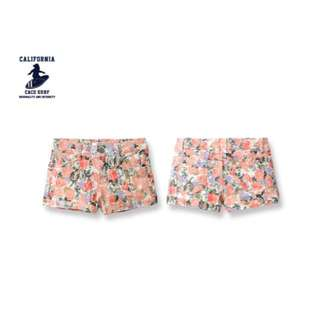 CACO 加州椰子 TINHAT SELECT 'CACO SURF' 潑墨花朵短褲 牛仔短褲熱褲
