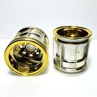 Tamiya WR-02 Gold Plated (Front Only) Wheel Set - 2pcs
