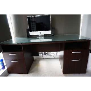 Fancy Office/Study Table (Tempered Glass)