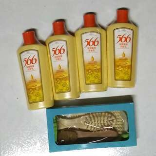 566洗髮乳+加贈全新按摩美梳組