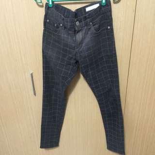 韓國英倫格子褲 30腰