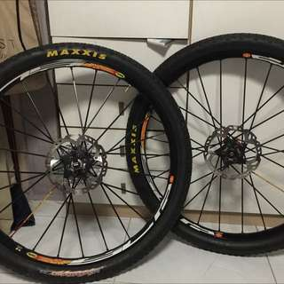 """RESERVED - Mavic Crossmax SLR Front And Back Wheelset 26"""" 6 Bolts"""