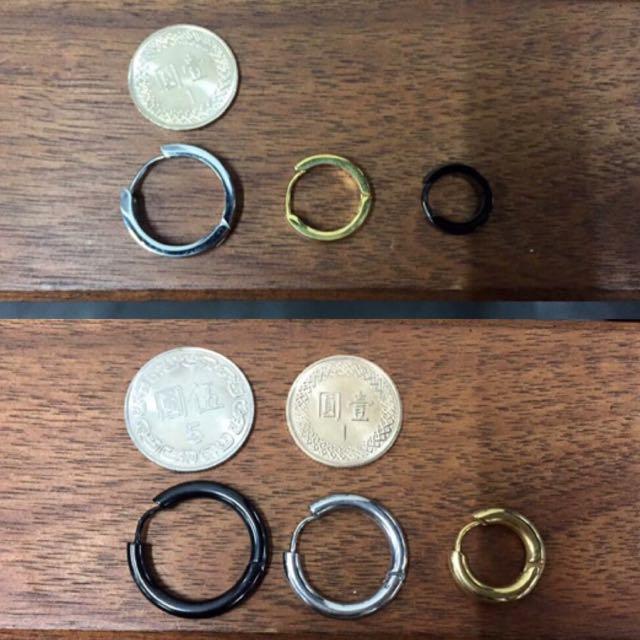 鈦鋼耳環一副290兩副500