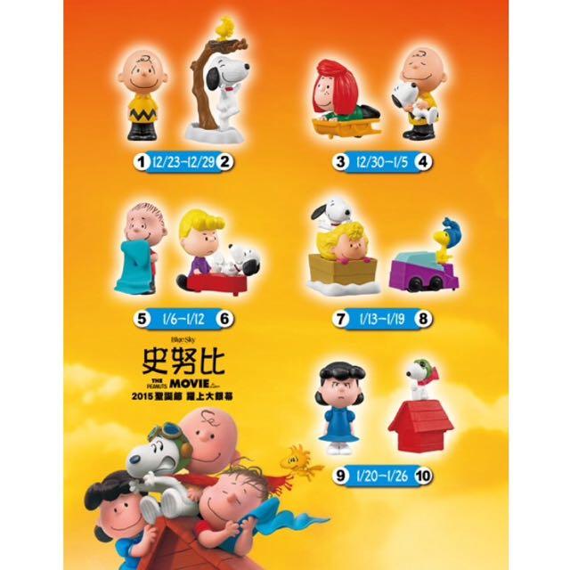 (保留)含運🔺麥當勞史努比玩具系列