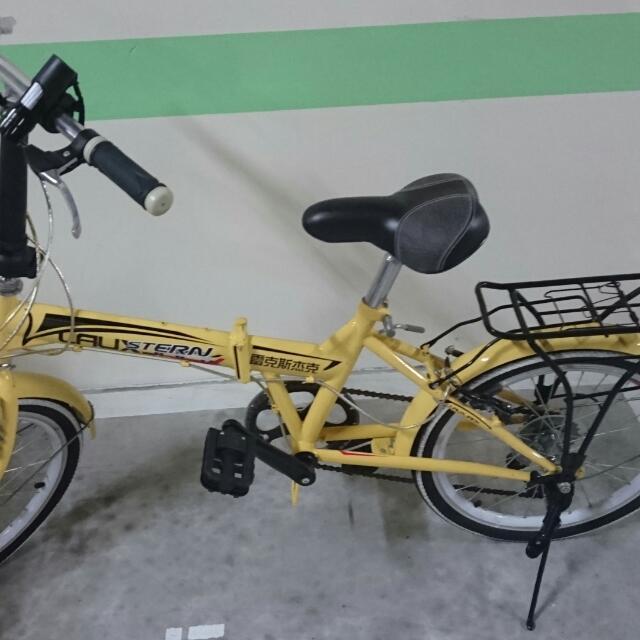 (待面交)黃色學生腳踏車