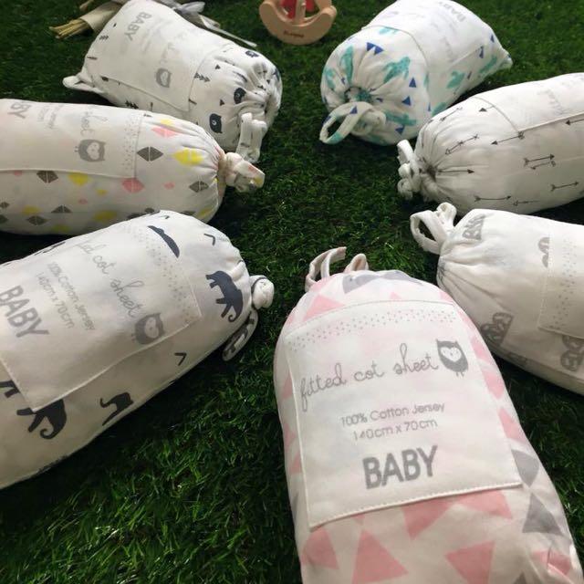 北歐風嬰兒床包