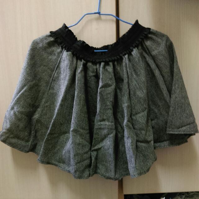 降☑灰色毛呢傘裙
