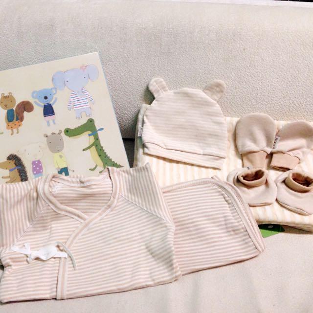天然有機棉新生兒禮盒組