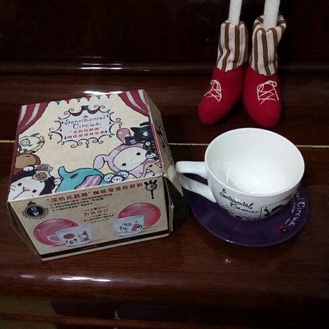 [杯盤組]深情馬戲團 咖啡優雅杯盤組 7-11 杯子 盤子 憂傷馬戲團