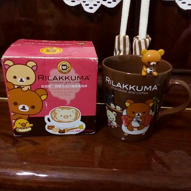 [杯子]拉拉熊 馬克杯 甜蜜巧克力咖啡馬克杯 7-11 附攪拌棒 懶懶熊 Rilakkuma
