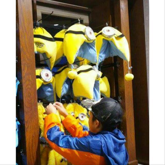 #日本 大阪 環球影城帶回🌏    小小兵 MINION❤ 飛行帽 帽子 毛帽