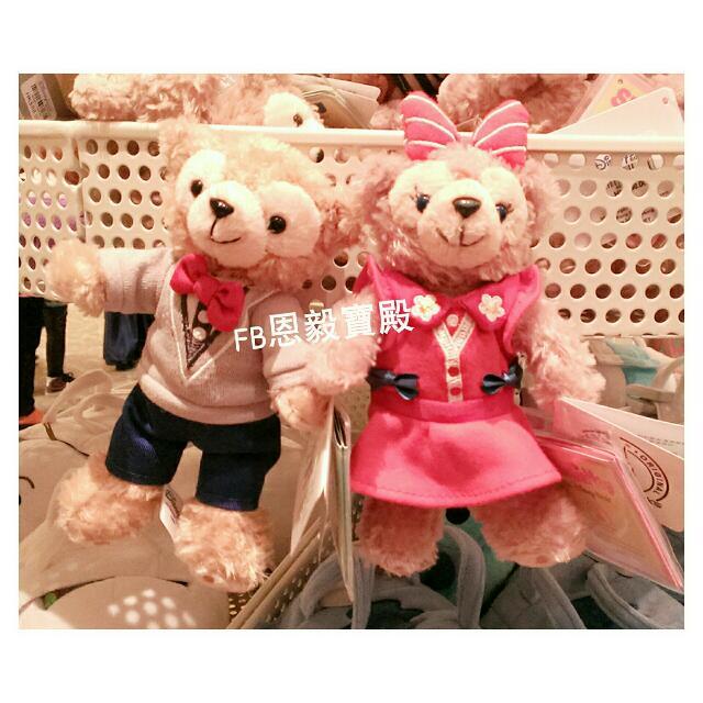 已售完🆕香港迪士尼 春季Duffy達菲熊/Shelliemay雪麗梅 造型磁鐵娃娃
