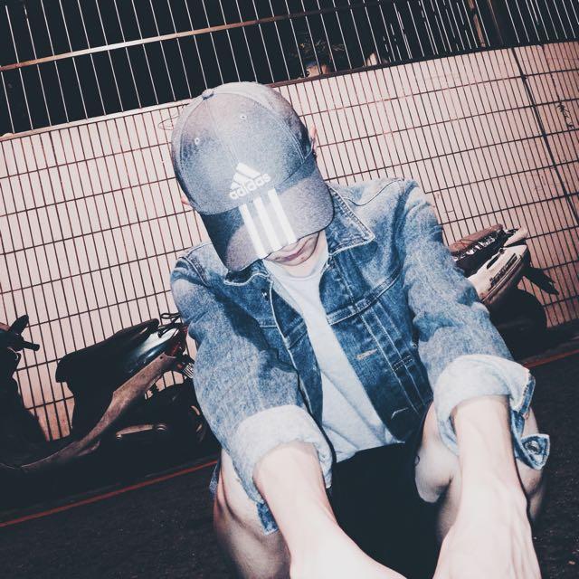adidas老帽 灰色 9成新