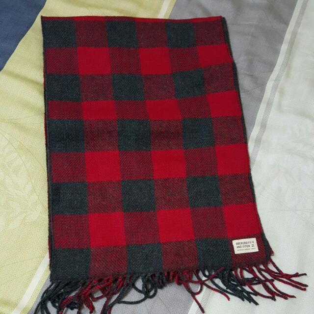 A&F 格紋圍巾