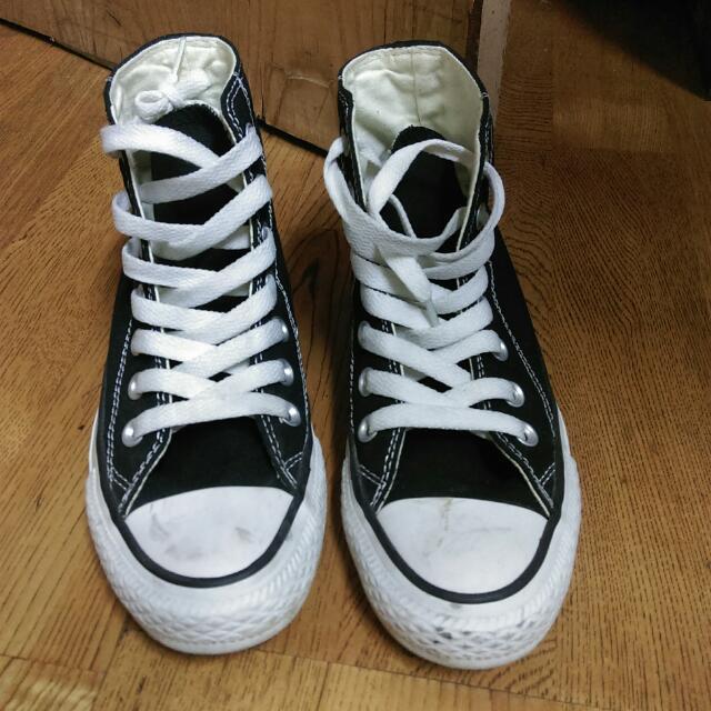 Converse 黑色高統鞋