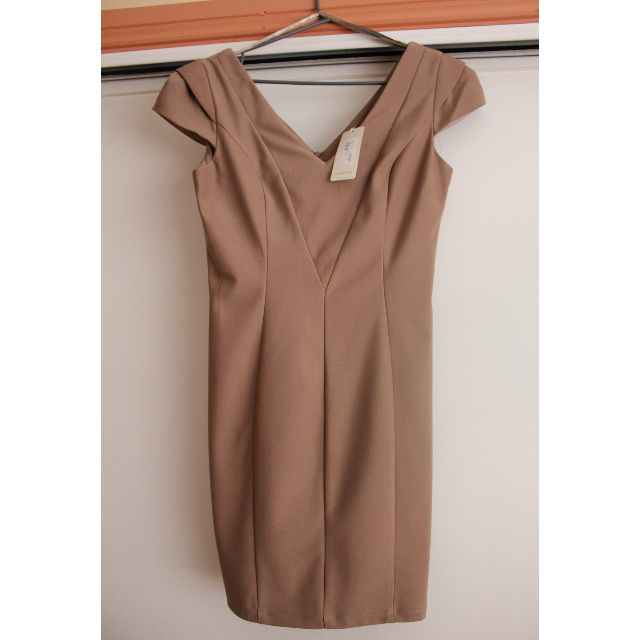 Forcast Taupe Body-Con Dress - Size 10