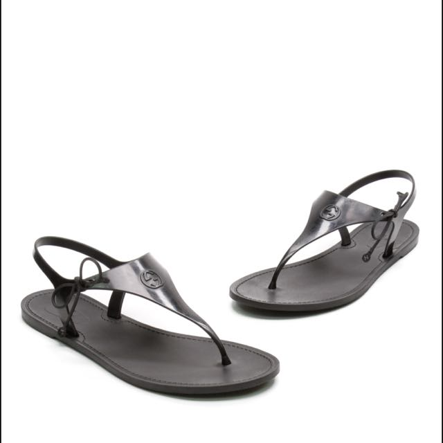 22dfff61c419 Authentic Gucci katina bio-plastic rubber thong sandal