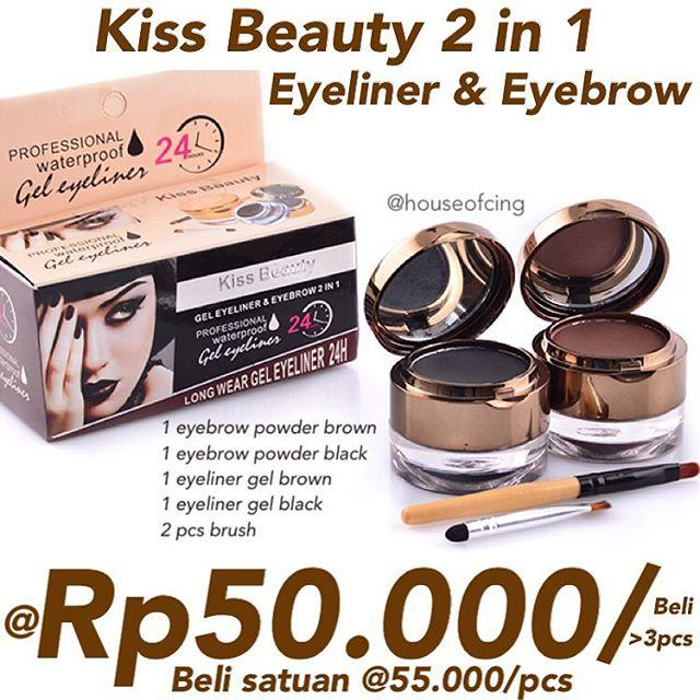 Kiss Beauty 2 in 1 Eyeliner + Eyebrow kit