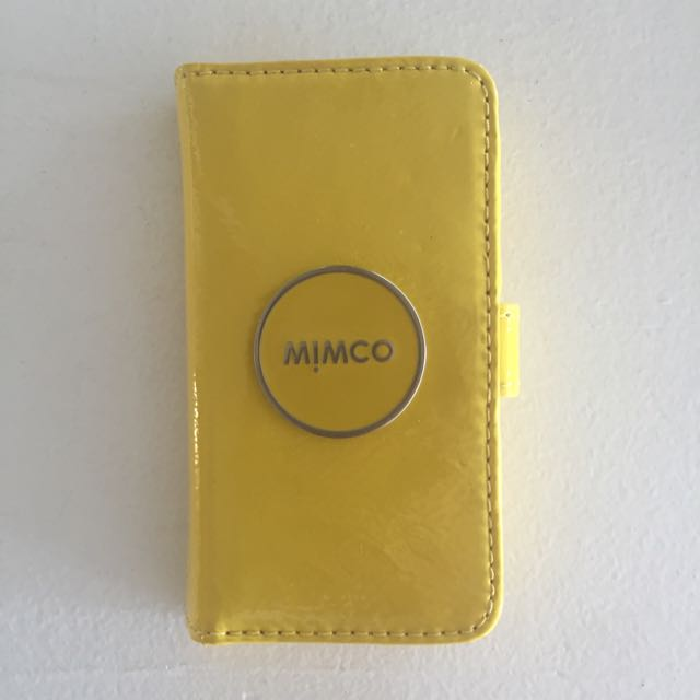 brand new c4cad dcd21 Mimco iPhone 5 Case Yellow, Women's Fashion on Carousell