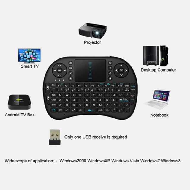 Mini Wireless Keyboard 2 4G with Touchpad Handheld gaming Keyboard for PC  Android TV Black New Promotion