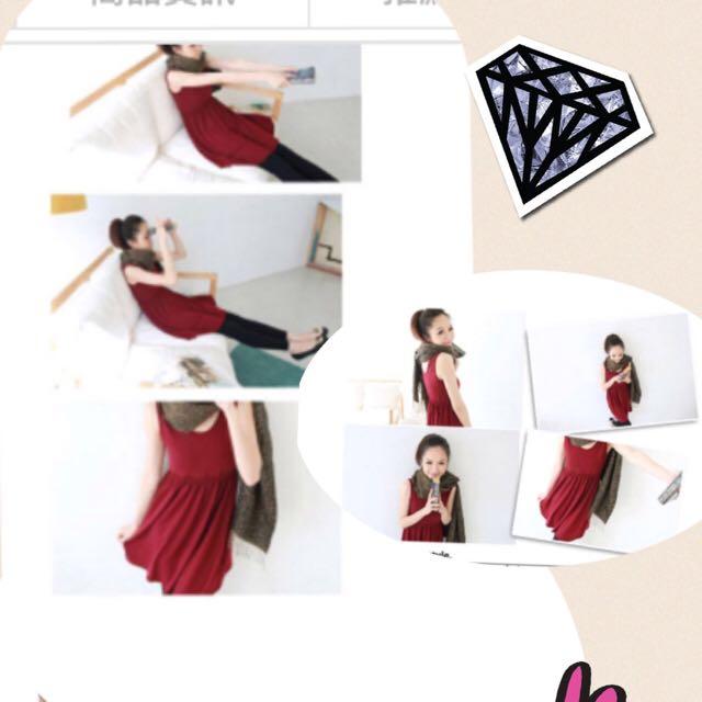 (轉) 全新 MIUSTAR 法國絨傘狀縮腰背心洋裝