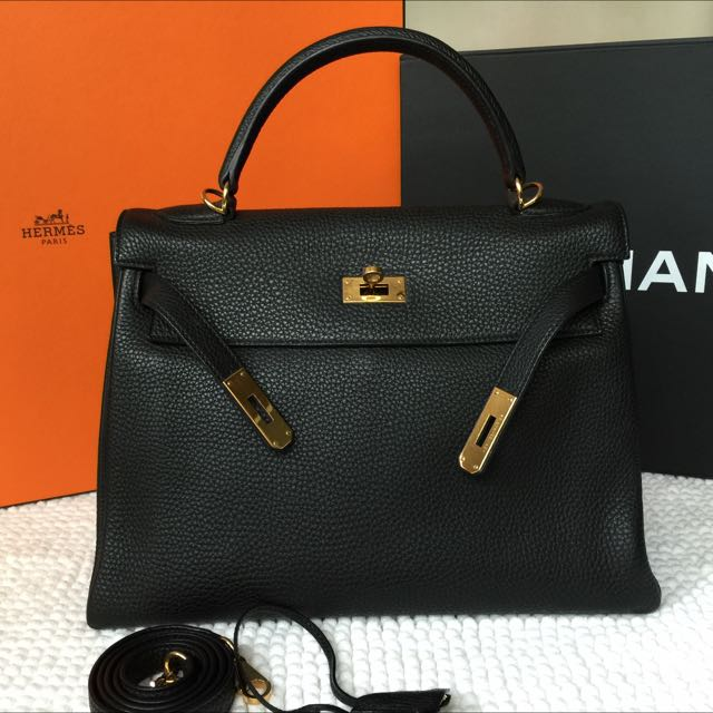 e11b906ad3073 inexpensive hermès kelly 32 togo gold 453c8 39ebb  where to buy most wanted  like new hermes kelly 32 black togo ghw stamp p luxury