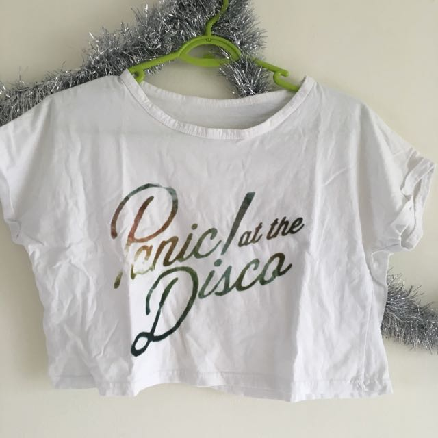 73d77669 💬 Panic! At The Disco Printed Cropped Top, Women's Fashion on Carousell