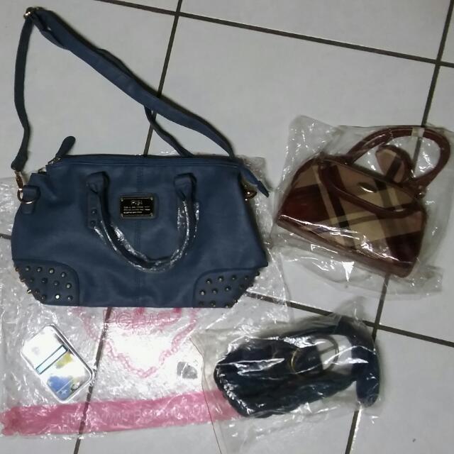 PG時尚藍大包+加送英倫風小提包&時尚觸控吊飾筆&女用藍綠色腰帶