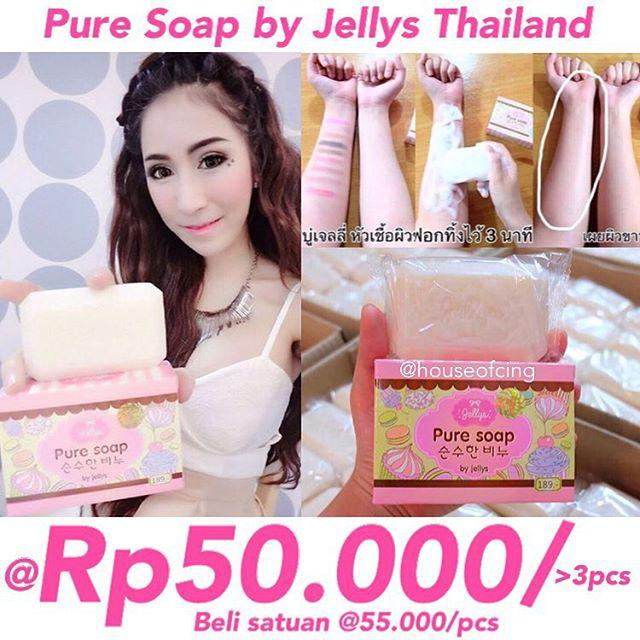 Pure Soap by Jellys Thailand sabun pemutih