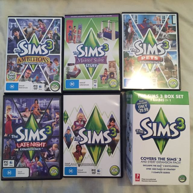 Sims 3 PC/Mac With Expansions And Books