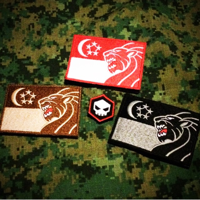 Singapore Singa Flag Embroidery Patches (2in X 3in) /w Velcro Hook Back Everything Else On ...
