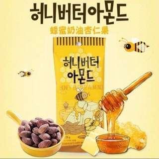 [最後一包]韓國空運蜂蜜杏仁果