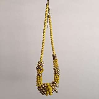 FREE* Yellow/Gold Statement Necklace