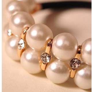 珍珠水鑽小髮帶 小配件~搭配其他一起買超划算!