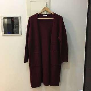 韓國弘大購入 棗紅大衣原價$1200