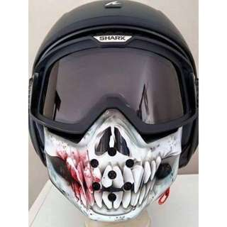 da6a5aecb16 Shark Raw removable mask helmet