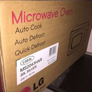 *MINT* LG Microwave Oven - $70